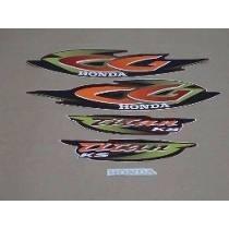 kit adesivos faixas  honda cg 125 titan es 2001 vermelha