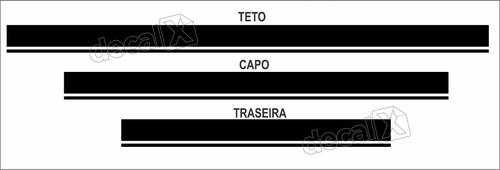 kit adesivos faixas kia soul capo, teto e mala imp60