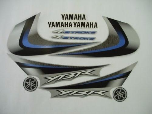 kit adesivos faixas yamaha ybr 125 2008 prata