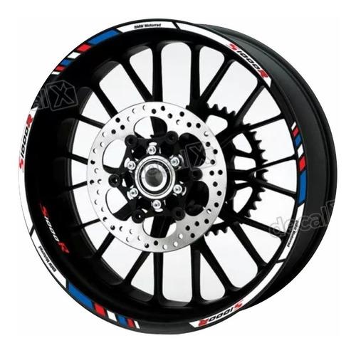 kit adesivos friso refletivo roda moto bmw s1000r fri022