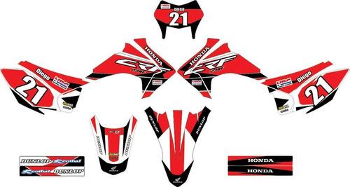 kit adesivos gráfico moto honda crf230cc kit 0,2mm