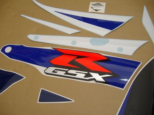 kit adesivos gsxr 1000 2004 azul e branca 10004ab