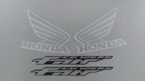 kit adesivos honda fan 125 ks 2009 2010 azul