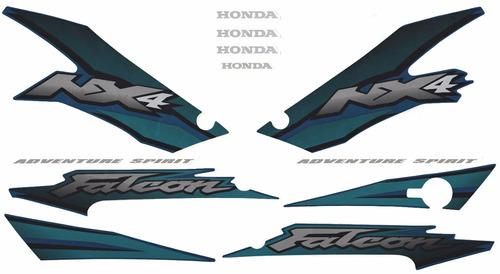 kit adesivos honda nx4 falcon 2002 verde