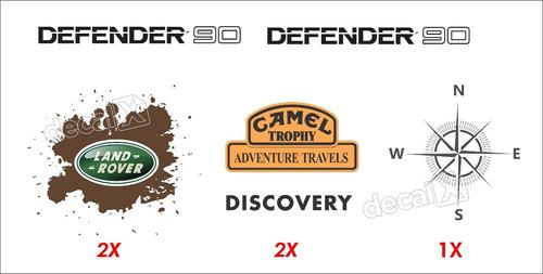 kit adesivos land rover defender 90 dfndr07