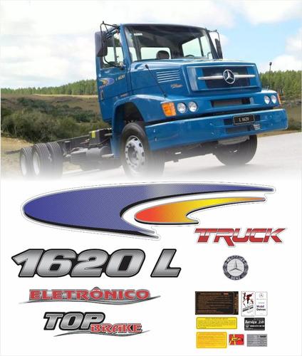 kit adesivos mercedes benz 1620 l top brake completo krt90