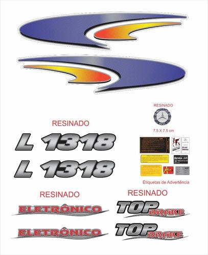 kit adesivos mercedes benz l 1318 top brake completo krt52
