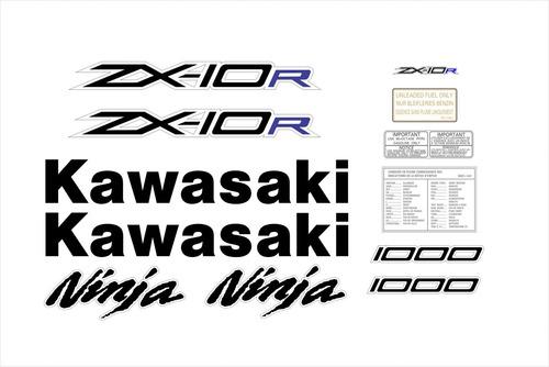 kit adesivos moto kawasaki ninja zx10r 2012 verde ca-15991