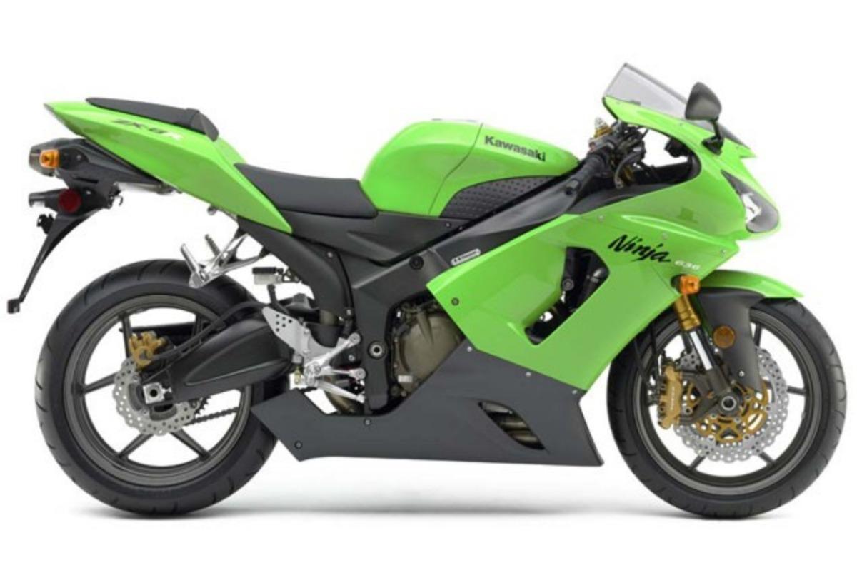 Cetec Adesivos Kit Adesivos Moto Kawasaki Ninja Zx6r 2008 Verde Ca 00932 R 134 90
