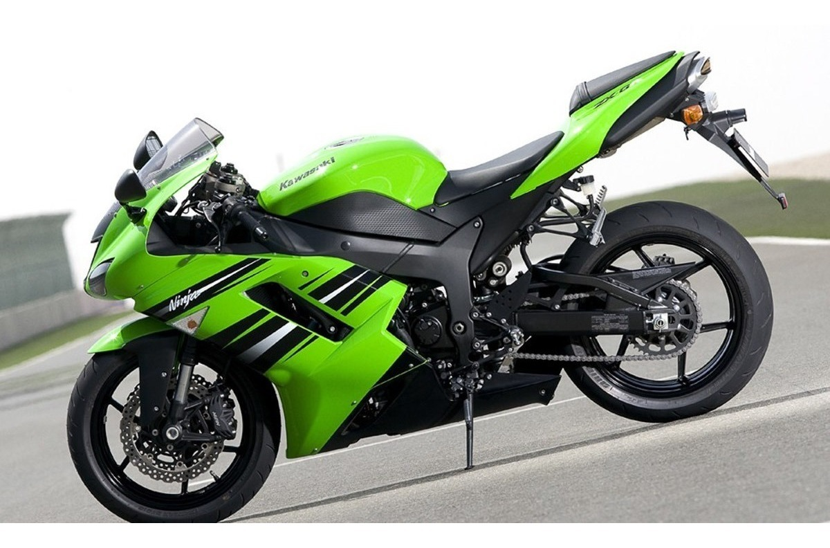 Cetec Adesivos Kit Adesivos Moto Kawasaki Ninja Zx6r 2008 Verde Ca 16016 R 289 90