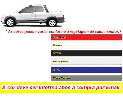 kit adesivos para carro fiat strada cabine simples e dupla
