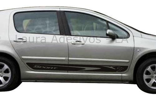 kit adesivos peugeot 307 4 portas faixa lateral tuning novo