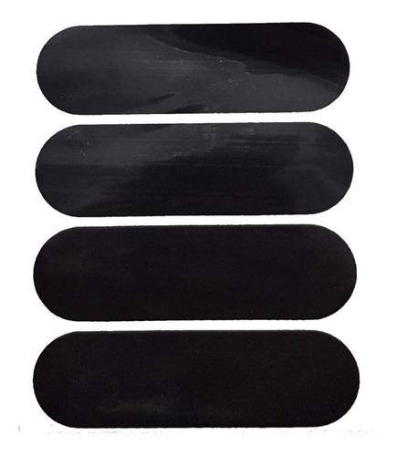 kit adesivos refletivo para capacete moto cor preto