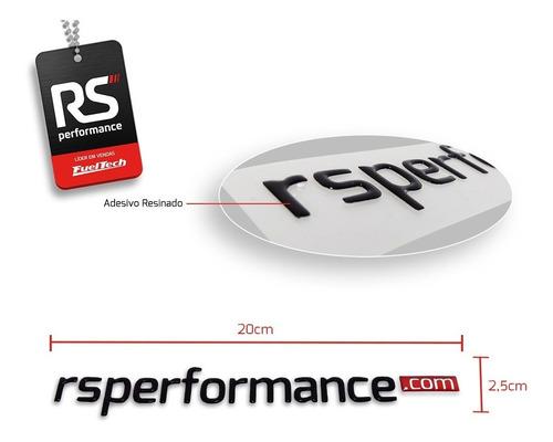 kit adesivos resinado preto rs performance