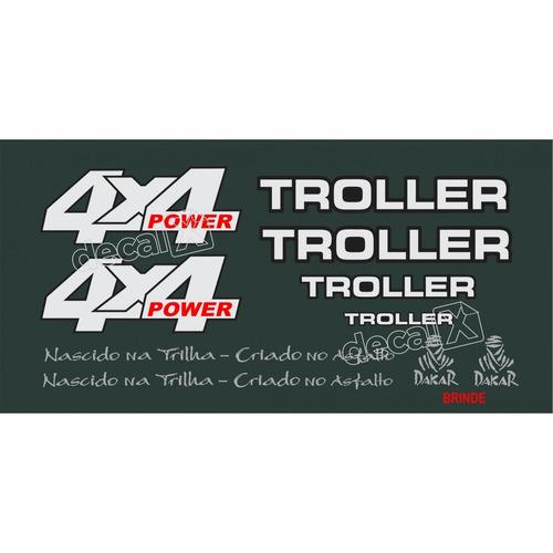 kit adesivos resinados troller rf sport 1997 verde trlrf971