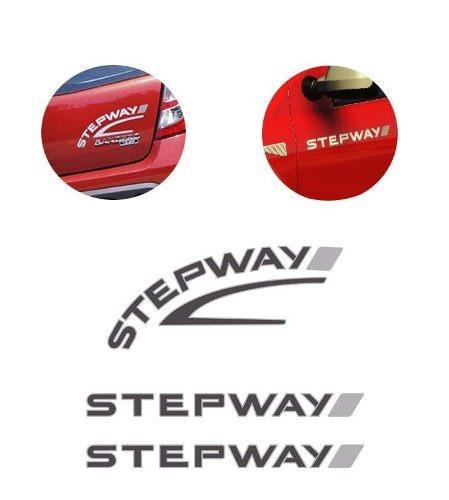 kit adesivos sandero stepway 2008 grafite + friso traseiro