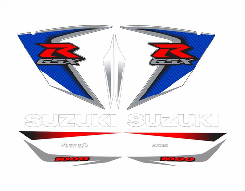 kit adesivos suzuki gsxr 1000 2008 azul e branca sz100008ab