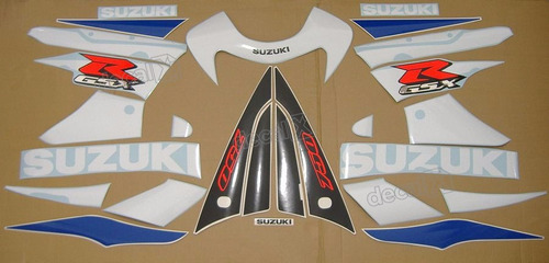kit adesivos suzuki gsxr 750 2001 azul e branca 75001ab