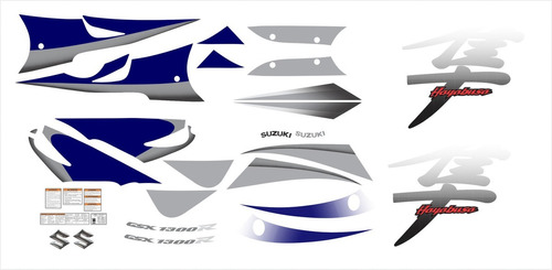 kit adesivos suzuki hayabusa gsx 1300r 2007 azul