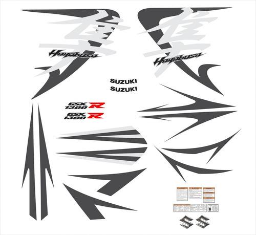 kit adesivos suzuki hayabusa gsx 1300r 2011 prata