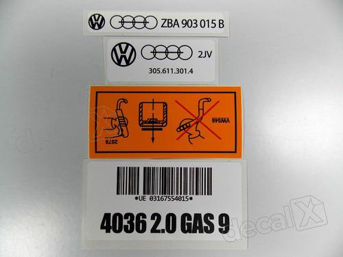 kit adesivos tampa valvula motor 2.0 gasolina 9 20gas9