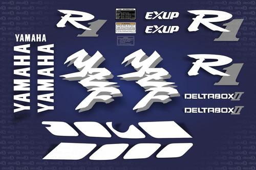 kit adesivos yamaha r1 1998 azul r198az