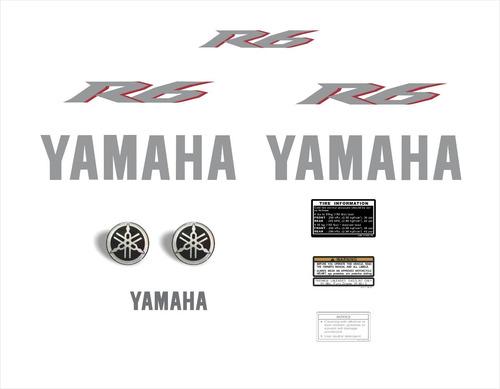 kit adesivos yamaha r6 2007 vermelha r607ve