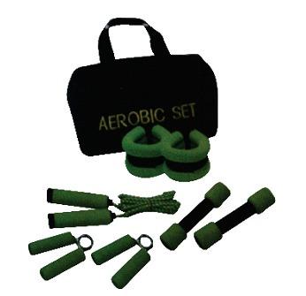 kit aeróbicos pesas y laso  sport fitness ref 071152