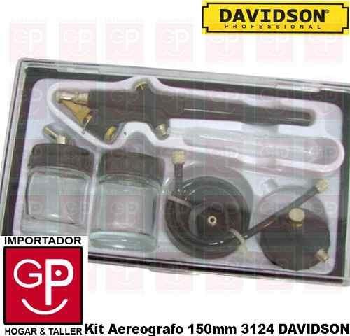 kit aerografo 6 pz. profesional  davidson