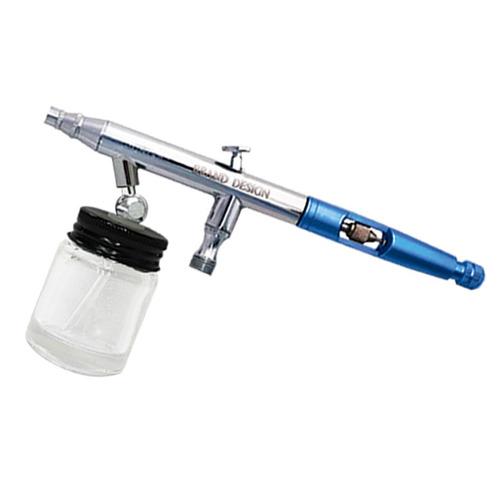 kit aerografo de succion y compresor c/manguera y frasco bd