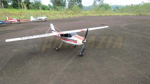 kit aeromodelo cessna 182 treinador 120cm + decals + vinil