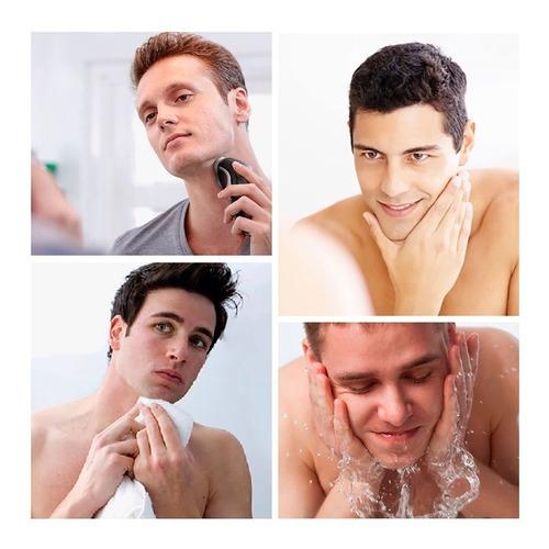 kit afeitadora recargable viajera con mini trimmer patillera