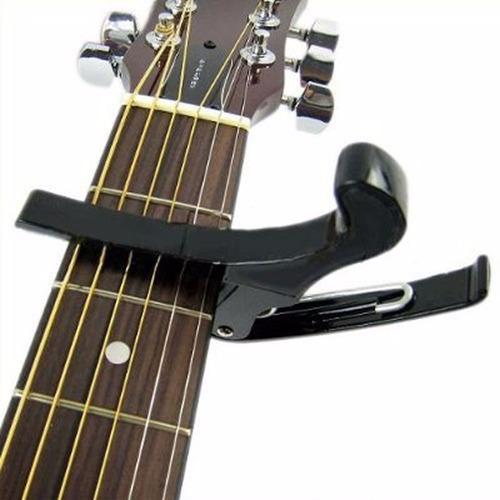kit afinador violão guitar bass,cavaco+capo sup +7 palhetas