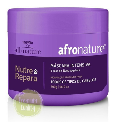 kit afro nature tratamento cacho hidrat 22 + super + máscara