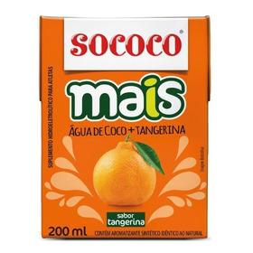 Kit Água De Coco + Tangerina Sococo 200ml 12 Unidades
