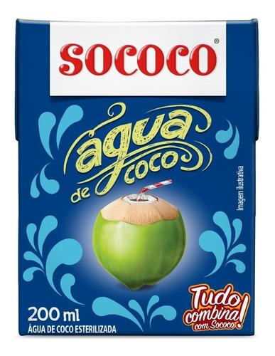 kit agua de coco sococo 200ml tp 12 unidades