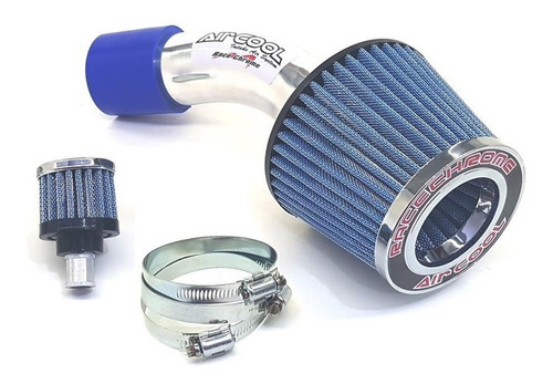 kit air cool filtro ar esportivo az hyundai hb20 1.6cc 16v