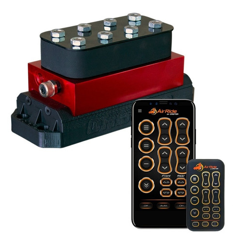 kit air ride super black 8mm - saveiro g1/g2/g3/ g4 - castor