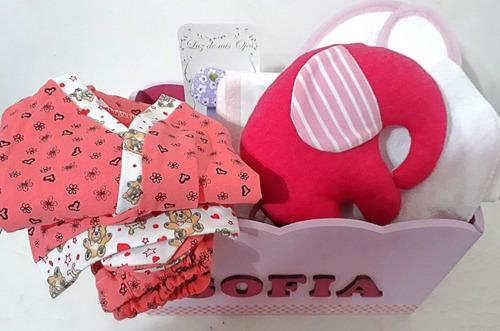 kit ajuar de recibimiento nacimiento bebe 11 piezas regalo