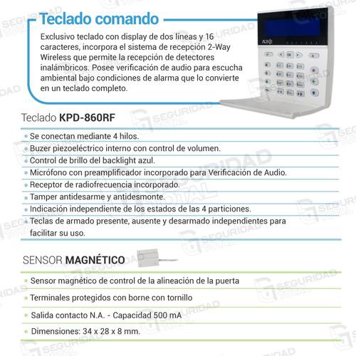 kit alarma alonso a2k8 teclado lcd discador telefónico dsc