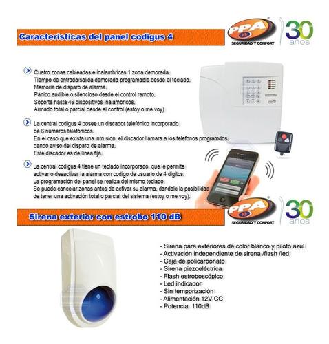 kit alarma casa inalambrica domiciliaria llamador lina fija