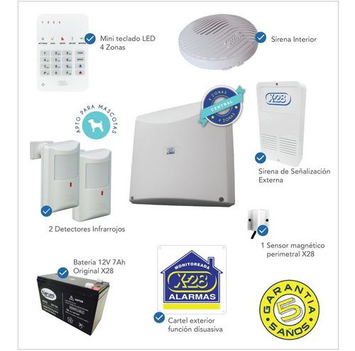 kit alarma casa x-28 4 zonas apto para mascotas 10