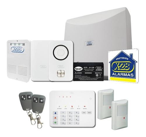 kit alarma casa x-28 avanzado 4 zonas inalámbrica llamador