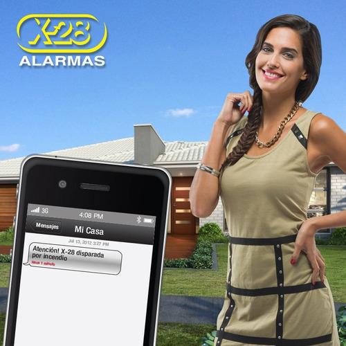 kit alarma casa x-28 inalámbrica 4 zonas control sms 7