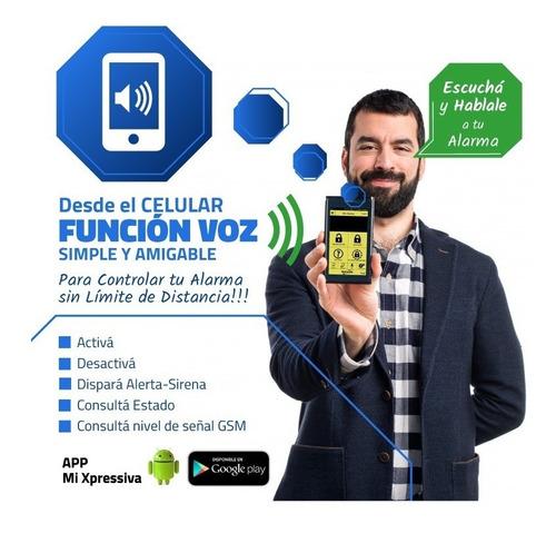 kit alarma domiciliaria inalambrica acuda h410 gsm celular d
