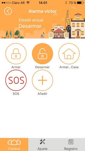 kit alarma domiciliaria inalambrica casa wifi/gsm ariza app