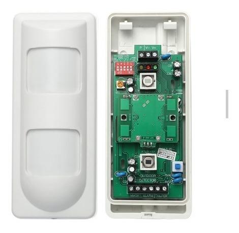 kit alarma domiciliaria perimetral cableada pir exterior
