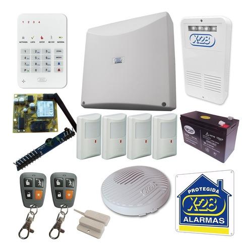 kit alarma domiciliaria x-28 full casa discador celular sms