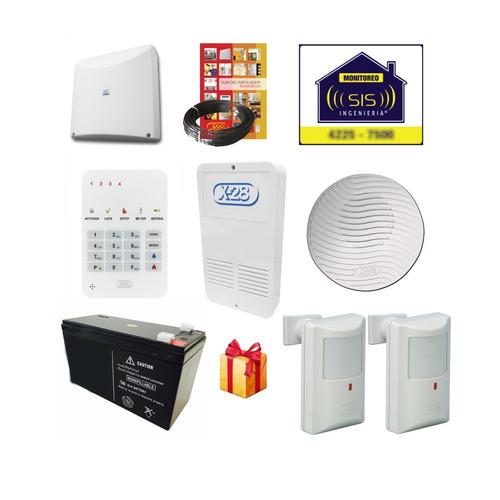 kit alarma domiciliaria x28 casa completo