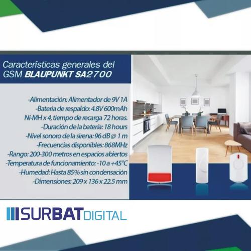 kit alarma domotica antirobo blaupunkt sa2700 autoinstalable